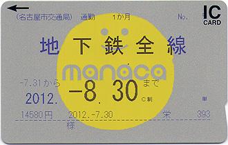 名古屋市交通局 定期 クレジット